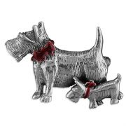 Sterling Silver Scottie Dog Brooch